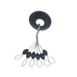 float stopper UK - Wholesale- 120Pcs 20set Lot Highly Commend S M L Black Rubber Oval Stopper Fishing Bobber Float