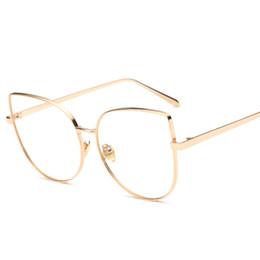 $enCountryForm.capitalKeyWord UK - 2017 Clear Sunglasses For Women Brand Designer Flat Top Glasses Female Fashion Flat Mirror Eyewear Cat Eye Plain Men Sun Glasses With Case