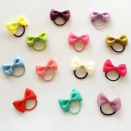 Wholesale Mini Butterfly baby hair rope ring for rubber band capitatum less hair does not damage the hair elastic thumb