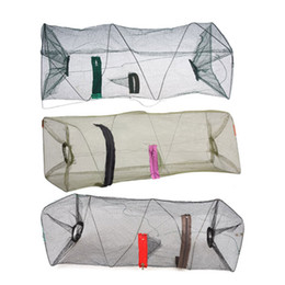 Minnow bait cage online shopping - Nylon Mesh Fishing Net Fishnet Bait Trap Cast Dip Net Cage Crab Fish Crawd Shrimp Crayfish Crabs Minnow Fishing Nets Pesca