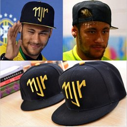 China Wholesale- Neymar JR njr Brazil Brasil Baseball Caps hip hop Sports Snapback cap hat chapeu de sol bone masculino Men Women new 2016 cheap neymar jr hats suppliers