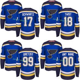 $enCountryForm.capitalKeyWord Australia - Customized Mens 2017-2018 St. Louis Blues 17 Jaden Schwartz 18 Tony Twist 99 Wayne Gretzky Hockey Jerseys