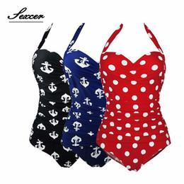 $enCountryForm.capitalKeyWord Australia - Sexcer Plus Size One Piece Swimsuit Retro Dot Swimwear Women Hater Full Large Size Body Bathing Suit Maillot De Bain Monokini XL