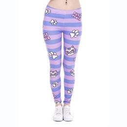 3d Pussy Pas Cher-Leggings de fille PUSSY POWER Stripes 3D Graphic Print Femmes Stretchy Tight Capris Pantalons Lady Casual Jeggings Sport Yoga Funny Trousers (J43860)