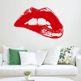$enCountryForm.capitalKeyWord UK - Wall Decal Fashion Woman Hot Lips Vinyl Sticker Art Home Decor Beauty Salon