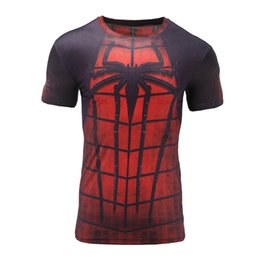 spiderman tee shirts NZ - Spiderman 3D Printed T-shirts Men Short sleeves New Cosplay Costume Slim Fit Clothing Tops Male T Shirt Free Shipping Tee 2017