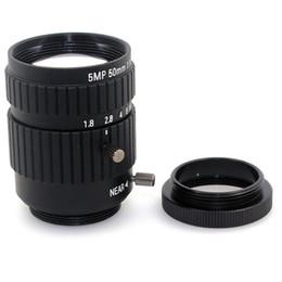C Lens Canada - f1.8 5MP 50mm cctv lens Fixed Focus CS C Mount camera Lens for cctv Industrial Microscope Camera