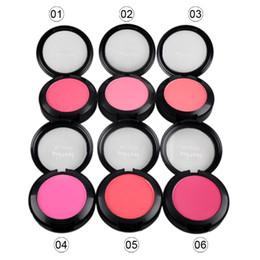 Wholesale Compact Brushes UK - Single Makeup Blush Cosmetic Blush Face Powder Foundation Plus Face Blusher with Blush Brush Compact Mirror 6g 2802017