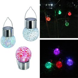 $enCountryForm.capitalKeyWord NZ - The explosion of solar lights outdoor landscape lights colorful ball crack LED glass ball Street garden decorative lamp
