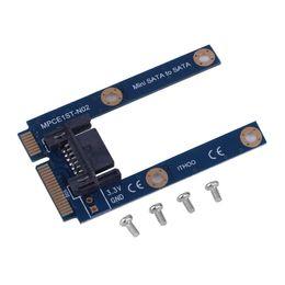 Toptan-1 adet mSATA Mini Genişletici 7 Pin SATA HDD Dönüştürme Kartı Adaptörü C1
