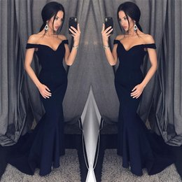 New fashioN special occasioN dresses online shopping - Sexy Black Mermaid Evening Dresses New Off Shoulders Prom Dresses New Cheap Special Occasion Gowns Bridesmaid Dress BA6751