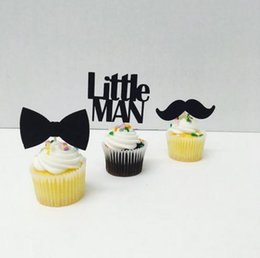 $enCountryForm.capitalKeyWord Australia - Custom personality 30pcs Little Man Reveal Cupcake Toppers baby shower boy birthday Party Decoration food picks Event Party Supplies