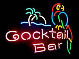 parrot neon beer sign 2020 - Fashion Handcraft COCKTAIL BAR PARROT Real Glass Tubes Beer Bar Pub Display neon sign 19x15!!!Best Offer!