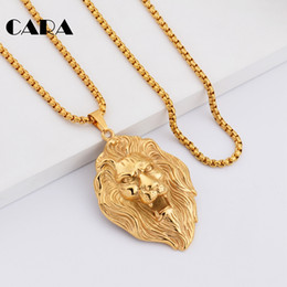 $enCountryForm.capitalKeyWord NZ - cara 2017 New Fashion mens stainless steel 27''long hip hop necklace roaring lion necklace pendant for mens jewelry necklace CAGF0222