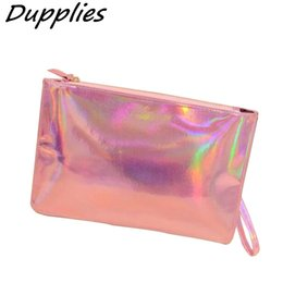 $enCountryForm.capitalKeyWord Canada - Wholesale- Dupplies Female Long Leather Wallet Women PU envelope clutch bag coin purse Laser Silver Color Holographic Bag Money Phone Bags