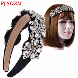 Accessoires Pour Cheveux En Strass Pas Cher-Pj .Sdzm Shinny Crystal Headbands New Clear Flower Rhinestone Hairbands Femme Accessoires pour cheveux Girl High Grade Headwear Gift