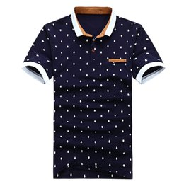 China Fashion Brand POLO Shirt Men Cotton Fashion Skull Dots Print Camisa Polo Summer Short-sleeve Casual Shirts XZ-026 supplier polo shirts pocket men suppliers
