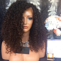 Human Hair Kinky Canada - Peruvian Kinky Curly Glueless Lace Front Wig Human Hair Wig Full Density Peruvian Virgin Hair Full Lace Wig For Black Women