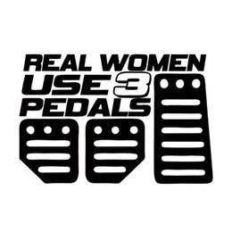 $enCountryForm.capitalKeyWord NZ - 50pcs 2018 Hot Sale For Real Women Use Pedals Sticker Funny Car Styling Girl Race Car Truck Decorative Vinyl Jdm
