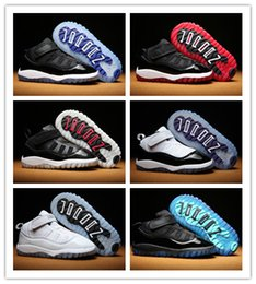 Baskets En Gros Pour Enfants Pas Cher-Discount Enfants Chaussures de basket-ball en gros New Air Retro 11 11s Boys Sneakers Enfants Athletic Sports Running Shoes chaussures 28-35 Avec Box