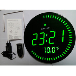 ... Led Affichage LED Numérique 3D Horloge Murale Design Moderne Home Decor  Salon Décoration Décoration Grande Montre Température Alarme Silencieuse  VERT