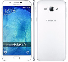 Refurbished 4g Mobiles NZ - Original Samsung Galaxy A8 A8000 Dual Sim Octa Core Rom 16GB 32GB 16.0MP 5.7 Inch 4G LTE Refurbished Unlocked Mobile Phone