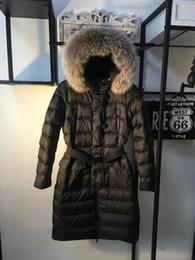 Fur collar jacket slim waist online shopping - MW04 French Brand Winter Jacket Women Real Raccoon fur hooded Collar Pure Duck down Parkas Women Clothing