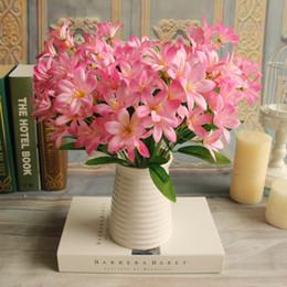 $enCountryForm.capitalKeyWord Canada - Wholesale-1Bunch European Artificial Flower Fake Mini Lily 24 Heads Bouquet Craft Wedding Arrangement Christmas Home Decoration 5 Colors