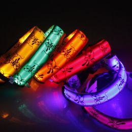 Discount lighted breakaway dog collar - LED pet dog collar Tactic light flash luminous small large dogs