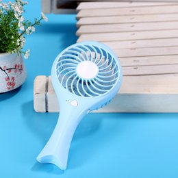 mini micro usb fan UK - Mini HandHeld Fish USB Battery Rechargeable Fan Cooling Air Conditioning Fan Handheld Micro Cooler For Home Office