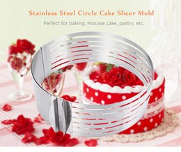 cake ring set Australia - Hot Sale 1 Pc Retractable Stainless Steel Circle Mousse Ring Baking Tool Set Cake Mould Mold Size Adjustable Bakeware NB