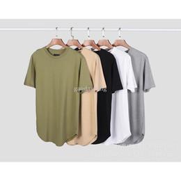 2017 new justin bieber kanye west Classic Bottom T-shirt round lap hip hop  streerwear t shirt white Khaki gray green black 92a2040cd