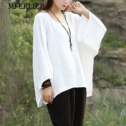 Blouson Blanc Pas Cher-Summer Autumn T Shirt Loose Casual Solid Noir Blanc Rouge O Neck Batwing Sleeve Women T-Shirt