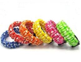 fashion 100pcs new mix colors you pick Self-rescue Paracord Parachute Cord Bracelets Survival bracelet Camping Travel Kit on Sale