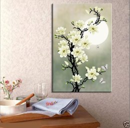 mural paintings oil Australia - Framed New Flower,1 PCS Hand Painted Modern Decoration Wall Art Canvas Mural Painting On Canvas.Multi sizes Available Free Shipping Fl008