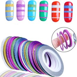 Ruban À Ongles Pas Cher-12 Rolls Glitter Scrub Nail Art Striping Tape Line Sticker Conseils Décorations DIY Autocollants Autocollants Manucure 1MM 2MM 3MM