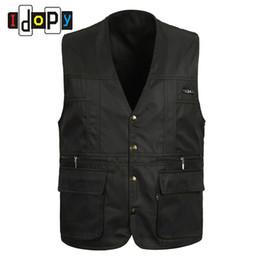 Wholesale cotton work vests resale online - Cotton Summer mens Suit Sleeveless Working For Men Outdoors Casual Multipocket Waistcoat Men Vest Photography Jacket