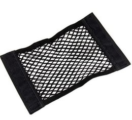 Plastic storage Pockets online shopping - Car Back Rear Trunk Seat Elastic String Net Mesh Storage Bags Pocket Cage Bag Black Springy Easy Installation jk J R