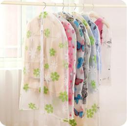 Hanging Plastic Wardrobe Canada - S M L size hanging clothing storage bags semi-transparent waterproof dust cover wardrobe storage bags clothes organizer closet organizer