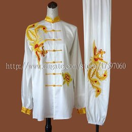 $enCountryForm.capitalKeyWord Australia - Chinese Tai chi clothing taiji sword garment Qigong performance suit Dragon Phoenix embroidered costume for women men boy girl kids adults