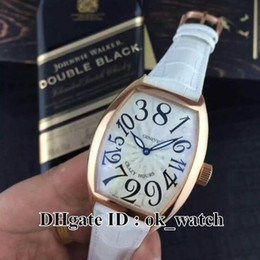 white mens digital watches Australia - NEW CRAZY HOURS 8880 CH white Dial Rose Gold bounce Automatic Mens Watch Digital dial Leather Strap Gents fashion Sport Watches