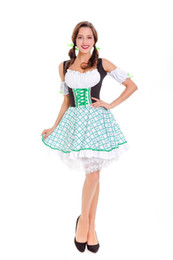 Dress cameriera signore delle donne Beer Girl Dress Cosplay tedesco Wench domestica Oktoberfest Costume classico bavarese sexy