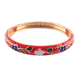 $enCountryForm.capitalKeyWord Canada - fashion Cloisonne Bangles lovely cute flower design Bracelets Women Accessories Jewelry many Colour womens day best Gifts P046B