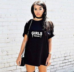 Girls White Tee Black Sleeves Canada - Women Summer Short Sleeve T Shirt Girl S Letters Printing Shirts Tops Lady Pullover Cotton Top Girls Clothing Tees Black   White Blouses