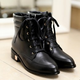 Boots Genuine Leather new Woman's shoes high heel 3.5CM EUR Size 29-44 cheap big discount eXIYMPyMpx