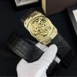$enCountryForm.capitalKeyWord Canada - belts for men brand designer 2017 New Famous High Qualtiy crocodile grain realy Leather tiger head Smooth Buckle black color Size 105-125cm
