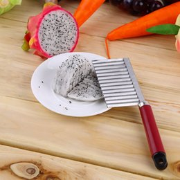 carrot cutter slicer Canada - 1pc Chip Dough Vegetable Carrot Blade Potato Crinkle Wavy Cutter Slicer Stainless kitchen accessories tools