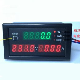 Wholesale By DHL Fedex 20pcs DL69-2047 volt meter AC 80-300V 100A Multi-Function voltmeter ammeter Electric energy Power tester