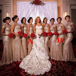 color burgundy plus size wedding dress 2019 - bling blush Pink bridesmaids dresses paillettes plus size custom made maid of honor Bridesmaid wedding party dress cheap