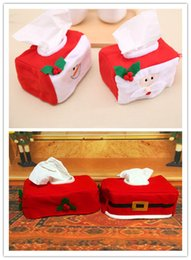 handmade santa claus suit Australia - Christmas Tissue Box Case Holder Xmas Santa Claus Cloth snow man Belt Style red white cy